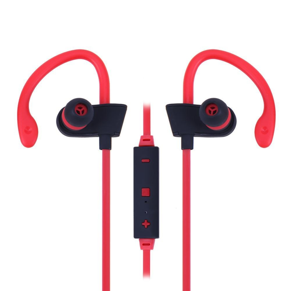 Universal Wireless Bluetooth Sports Earphone Stereo Earbuds Headset(Red) - intl .