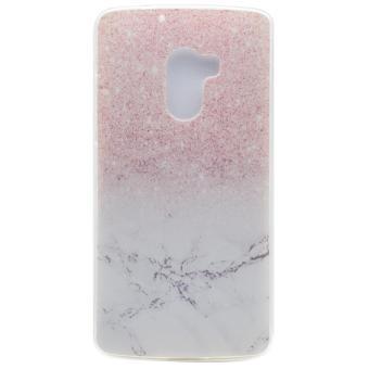 Untuk Lenovo Vibe K4 Note / A7010 / Vibe X3 Lite kembali TPU berpola fleksibel ponsel case - marmer dan Glitter pola