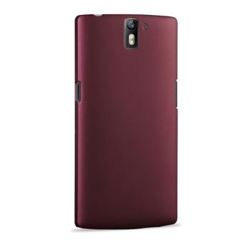 Untuk OnePlus One PC Ultra tipis keras krak di belakang selubung penutup Case pelindung - merah