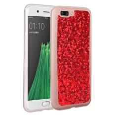 untuk OPPO R11 Plus Ultra Slim Fit Glitter TPU Phone Case Back Cover (Biru)-Intl