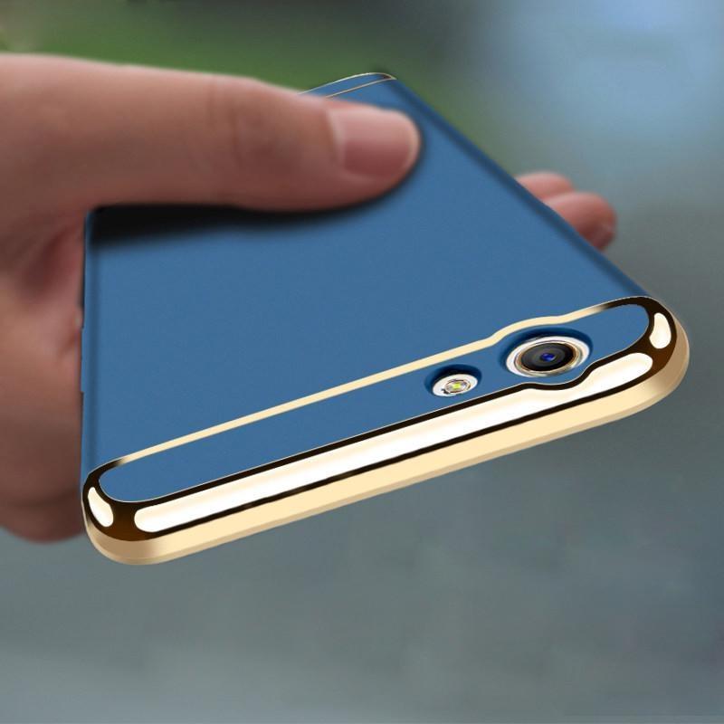Untuk VIVO V5 S Hybrid 3 in1 keras case plastik / PC matte ponsel case silikon