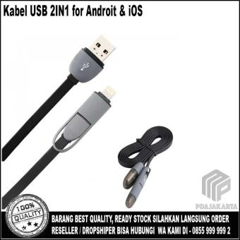 USB 2IN1 Charger Speed & Cable Data - Black