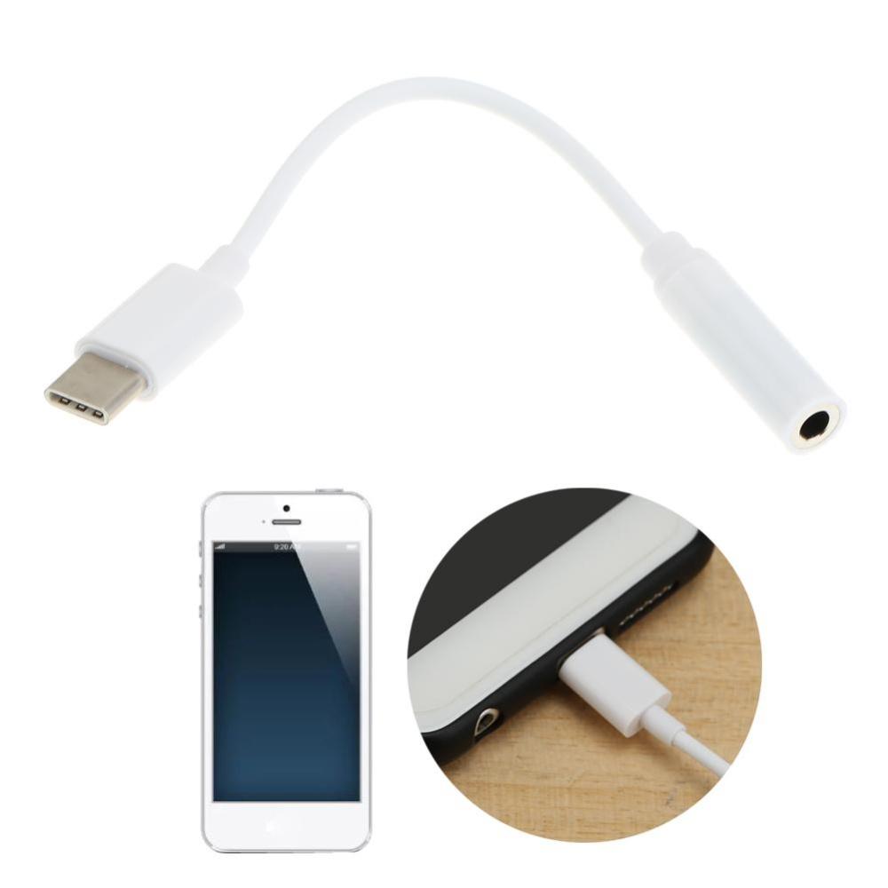 USB 3.1 Tipe - C Kepada 3,5 Mm Earphone Mikrofon Headset .