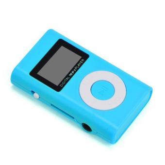 Detail Gambar USB Mini MP3 Player LCD Screen Support 32GB Micro SD TF Card Blue -