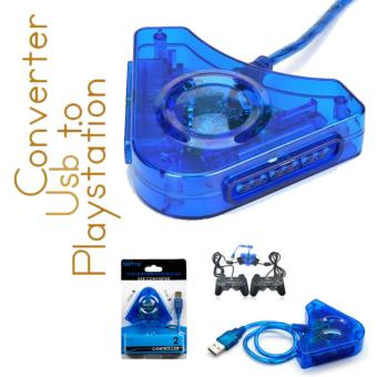 harga Usb To Playstation Converter/USB Playstation 2 PSX To PC USBConverter 2 Ports - Biru Lazada.co.id