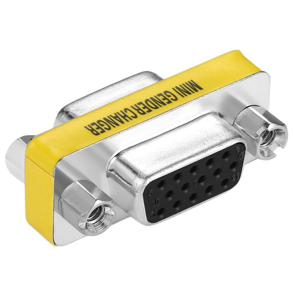 USTORE New Female to Female VGA HD15 Pin Gender Changer Convertor Adapter - intl ...