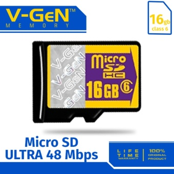 V-Gen Micro SD Memory Card Class 6 - 16 GB