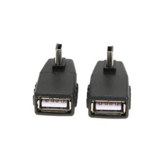 Kendaraan Mini USB Male To Female T Tipe Adaptor Mini USB 5Pin Audio Adapter -Intl