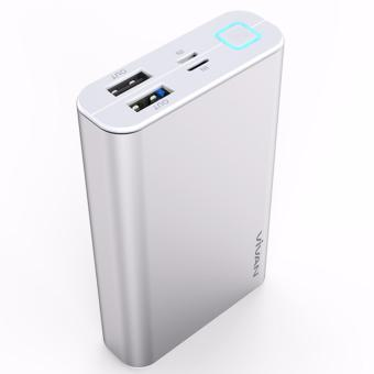 Vivan M10 10200mAh 2 USB Ports Power Bank Silver