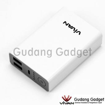 Vivan M8 8000mAh 2 USB Ports Power Bank White
