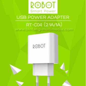 Vivan ROBOT Adapter Fast Charger Dual Output 2.1A / 1A RT-C04Original