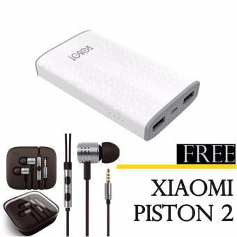 Vivan Robot RT7100 6600mAh 2 USB Ports Power Bank+Xiaomi earphone piston 2