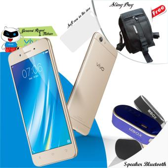 Vivo Y53 (Crown Gold), 2/16GB garansi resmi free Speaker Bluetooth, Micro SD 8gb, get sing bag
