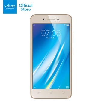 Vivo Y53 Smartphone - 2GB RAM/16GB ROM - Gold - Garansi Resmi Vivo Indonesia + Free Exclusive Selfie Stick