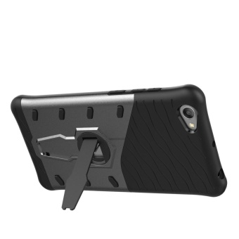 Vivo Y55 Cases, [Kickstand Feature] Rotate Stand Holder Protective Shell Hybrid Bumper Armor Rubber Shockproof Case Cover for Vivo Y55/Y55A cases - intl - 3