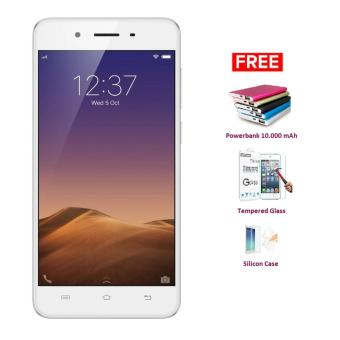 VIVO Y55S - 16 GB - Gold + Free Powerbank 10.000 mAh, Tempered Glass, Silicon Case