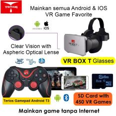 VR Box T +T3+SDM01 3D VR Cardboard 2 with Capacitive Touch, Gamepad T3 & 8G Game