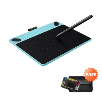 Wacom Intuos Art Creative Pen + Touch Tablet Small Cth-490 - Blue Mint + Free Softcase dan Antigores