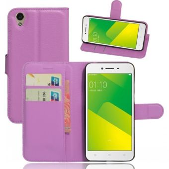 Wallet Flip Leather Case Cover For Oppo A37 / Oppo Neo9 (Purple -intl - 4