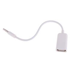 Wanita untuk Aux USB 3.5 mm audio jack male adaptor steker konverter kabel data