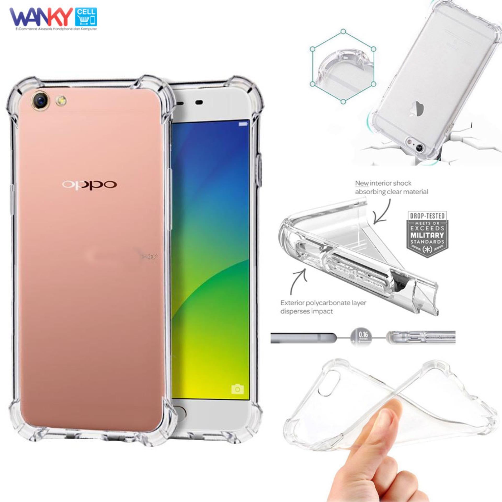 Case Anti Shock Crack Elegant Softcase For Oppo F1s A59 White Fuze F1 S Putih Wanky