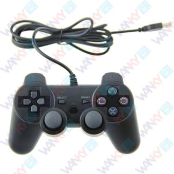 Wanky Gamepad Single Dual Shock USB - Hitam