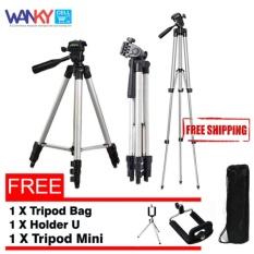 Wanky Tripod Stainless 3110 Smartphone, Camera - Silver Free Tripod Mini