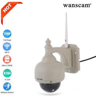 Wanscam HW0038 HD H.264 ONVIF 1.0 Megapixe Waterproof IP Camera Pan/Tilt Dome Outdoor Jaringan Nirkabel PTZ IP Camera WIFI CCTV HD 720 P-Intl