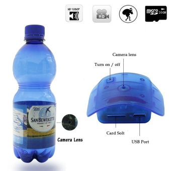 Water Bottle CameraJDM 1080P HD Portable Plastic Drinking