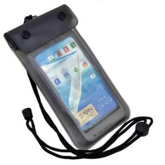 Waterproof Bag/Case for Smartphone up to 5,5\ - Pouch Anti Air - Hitam""