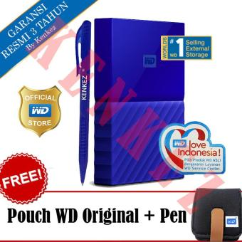 harga WD My Passport New Design 2TB/2.5Inch/USB3.0 - Biru + Free Pouch + Pen Lazada.co.id