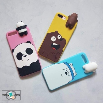 Harga We Bare Bears 3D Doll Case Iphone 6 Plus/6S Plus - Blue Ice Bear