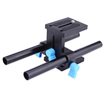WEIHE Universal Aluminum 15MM Camera Rail Slider with 1/4 Quick Release Plate - intl