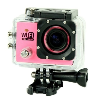 Winliner ACC-B-05 Sports Action Camera DV 170 degree Wide Angle Lens 1080P HD (Pink) - intl