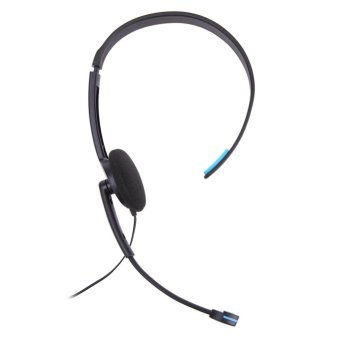 Wired Headset Microphone for Sony PlayStation 4 PS4 Game (Black andBlue) - intl