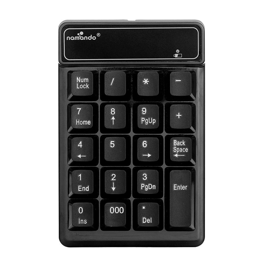 ... Wireless 2.4GHz 19 Keys Number Pad Numeric Keypad Keyboard for Laptop PC (Black) ...