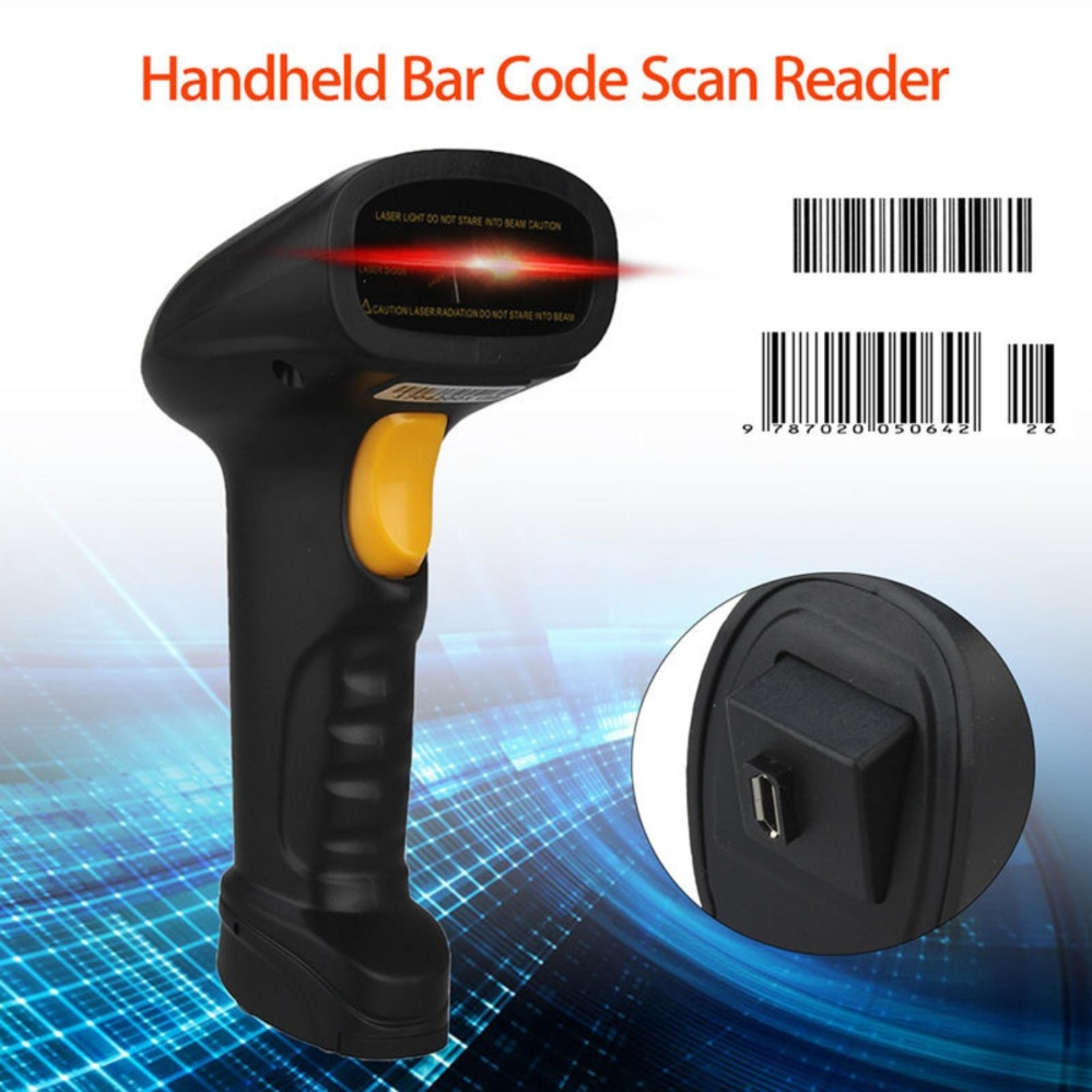 ... Wireless & USB Handheld 1D Barcode Scanner For iOS Android - intl ...