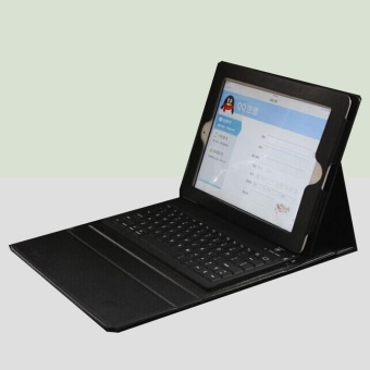 Wireless Bluetooth iPad Keyboard Leather Case Cover For Apple iPad2 3 4 - intl - 2