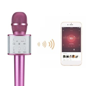 Wireless Bluetooth Microphone Handheld Home Party KTV Mic For PhoneNew - intl