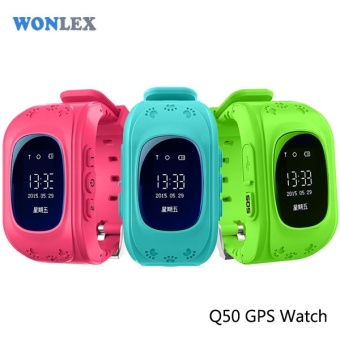 Wonlex Anti Lost Q50 OLED Child GPS Tracker SOS Smart MonitoringPositioning Phone Kids GPS Watch Compatible with IOS & Android- intl