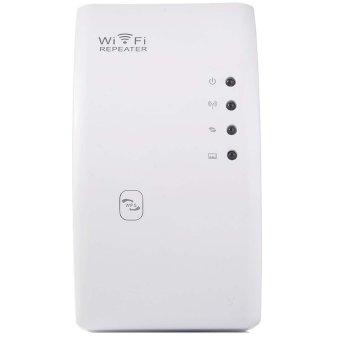 ... WR01 Mini Portabel Dinding Steker Wifi Nirkabel 300Mbps RentangRouter Pengulang Sinyal Penguat Extender Putih Steker UK