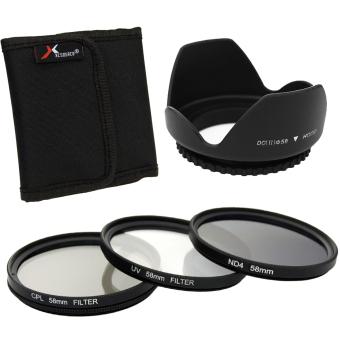 XCSource UV CPL ND4 Filter Set + Lens Hood 58mm for Canon 550D 500D 450D 400D 350D LF282 - 3