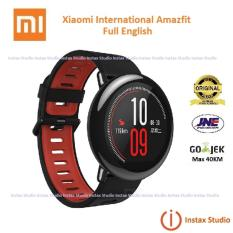 Xiaomi Amazfit Smartwatch International Version with GPS and Heart Rate Sensor - 100% English Version - Black