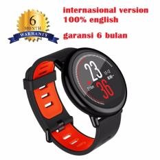 Xiaomi Amazfit Smartwatch International Version with GPS and Heart Rate Sensor - 100% English Version - Hitam