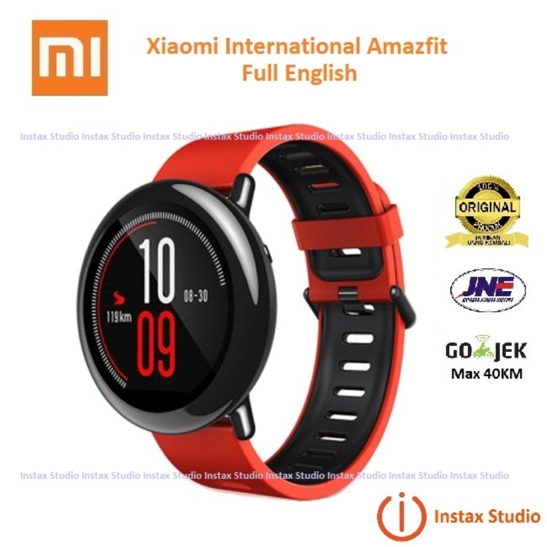 Xiaomi Amazfit Huami Gps Jam Tangan Sport Dengan Keramik Panel Merah Cor International Version Hitam Source Smartwatch With And Heart