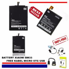 Xiaomi Baterai / Battery Mi4i BM33 Lithium-ion Polymer Battery + Free Kabel Micro OTG USB