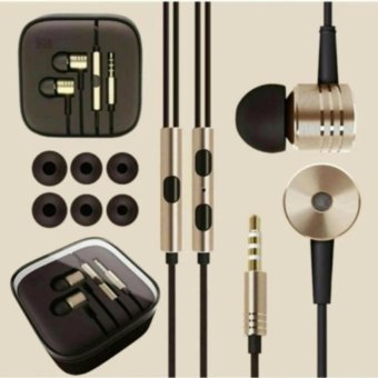 Xiaomi Earphone Big Bass Piston Mi 2nd Generation Handsfree/Headset- Gold