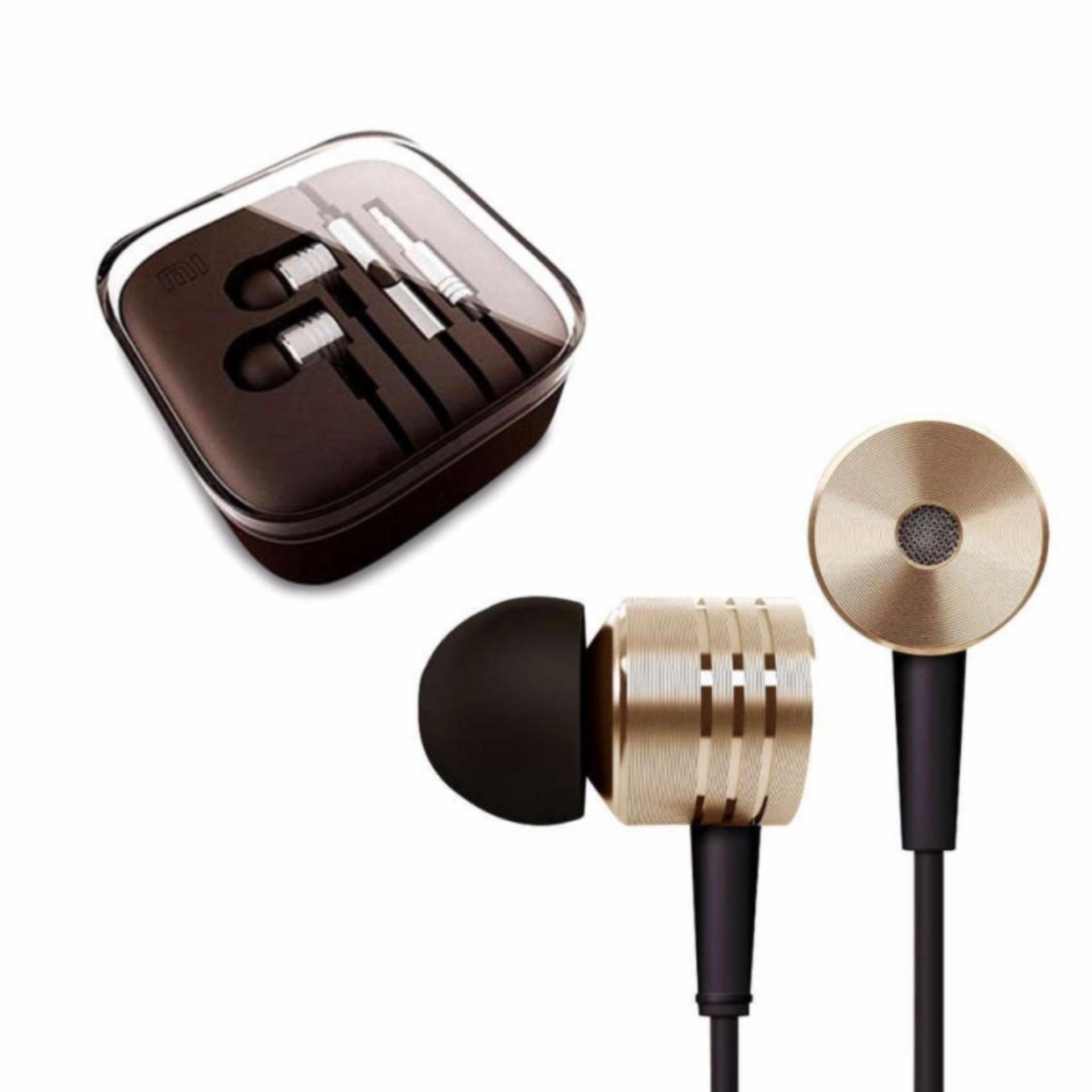 ... Xiaomi Earphone Big Bass Piston Mi 2nd Generation Handsfree/Headset - Gold ...