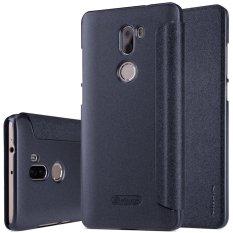 Xiaomi Mi 5 S Plus Case, NILLKIN Baru Flip Leather Case Cover untuk Xiaomi Mi 5 S Plus Smart Sleep Function-Kemasan Ritel (HITAM) -Intl