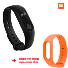 Xiaomi Mi Band 2 Smart Bluetooth Gelang + Jeruk penggantian strip (Bundel